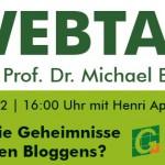 """GABAL Webtalk mit Prof. Dr. Michael Bernecker """" Was sind die Geheimnisse erfolgreichen Bloggens?"""""""