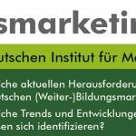 Erinnerung: Nehmen Sie an unserer aktuellen Studie zum Thema Bildungsmarketing teil