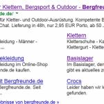 On-Page Analyse von bergfreunde.de