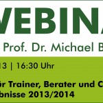"Webinar ""Marketing für Trainer, Berater und Coaches! Studienergebnisse 2013/2014"""