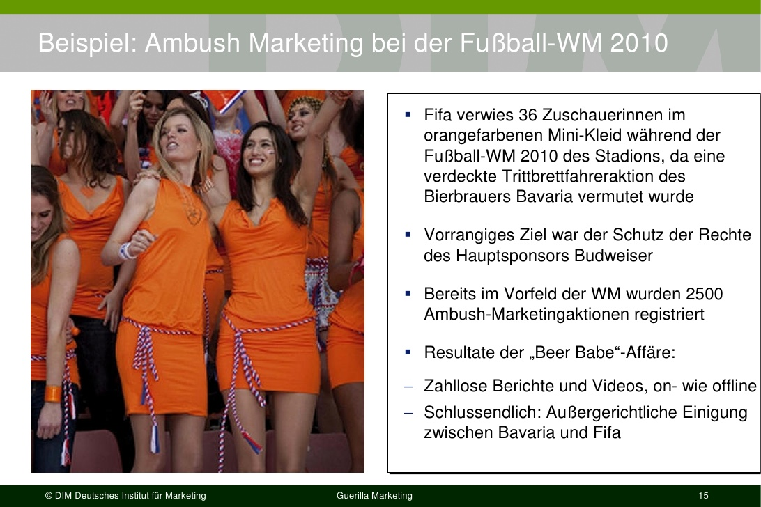 bavaria ambush marketing