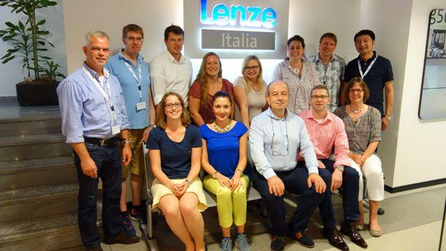 Prof. Dr. Nikola Ziehe in Mailand mit der LDP-Gruppe