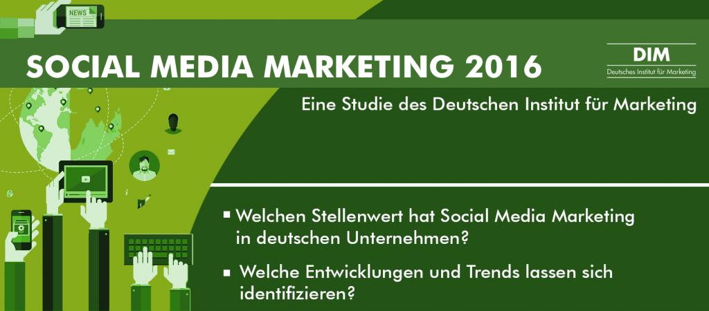 Social Media Marketing Studie 2016