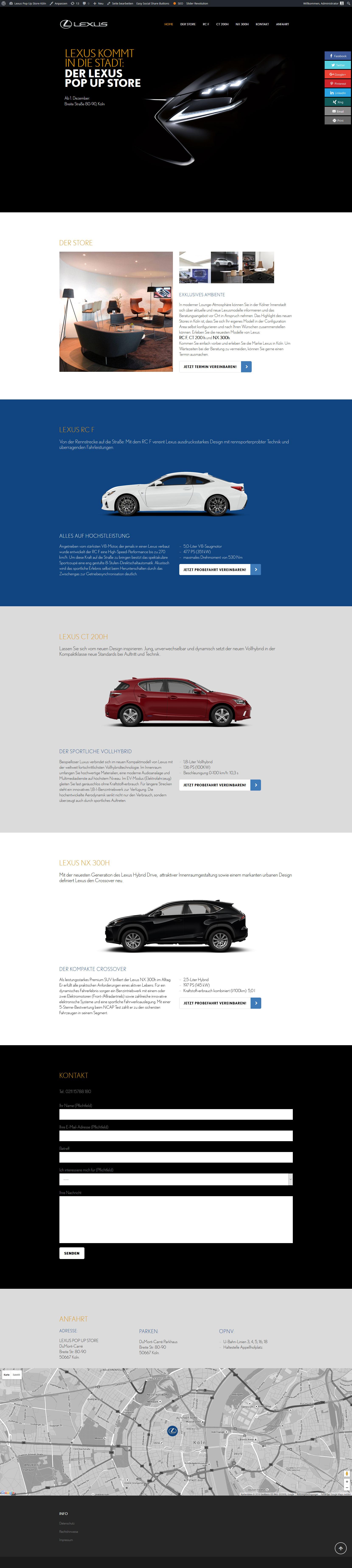 Pop-up-Store Lexus