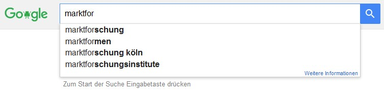 Keyword Recherche Google Suggest