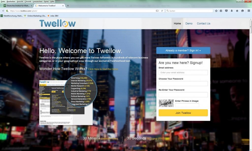 Twellow Twitter Tools