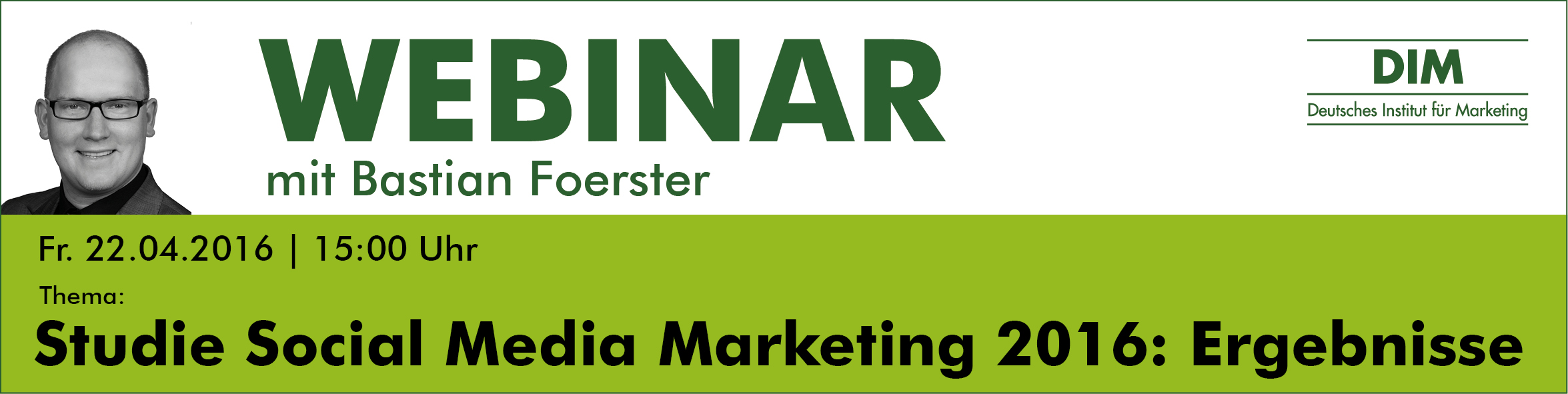 Webinar Studie Social media Marketing 2016