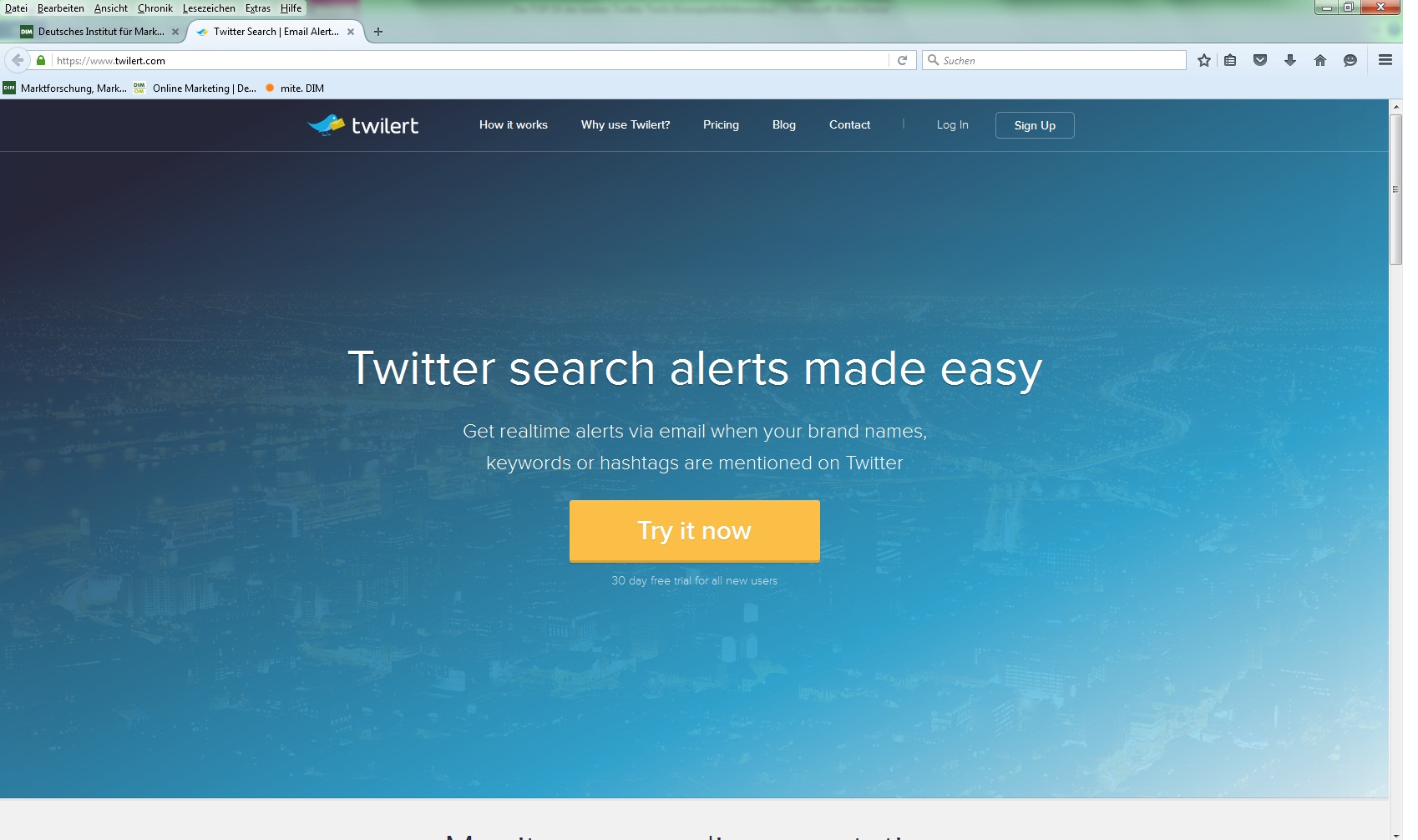Twilert Twitter Tools