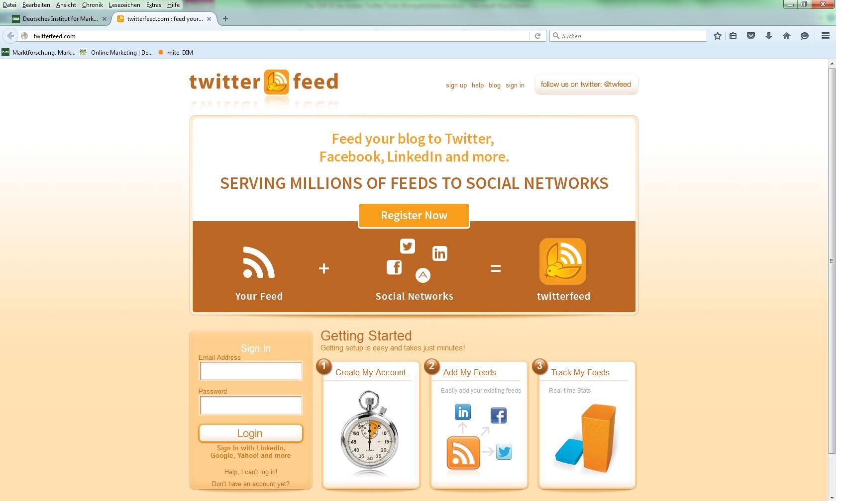 TwitterFeed Twitter Tools