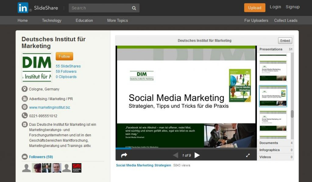 Growth Hacking Tipp: Slideshare