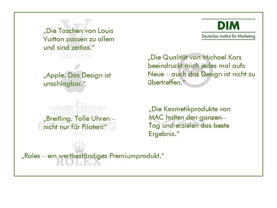 DIM Lieblings-Luxusmarken