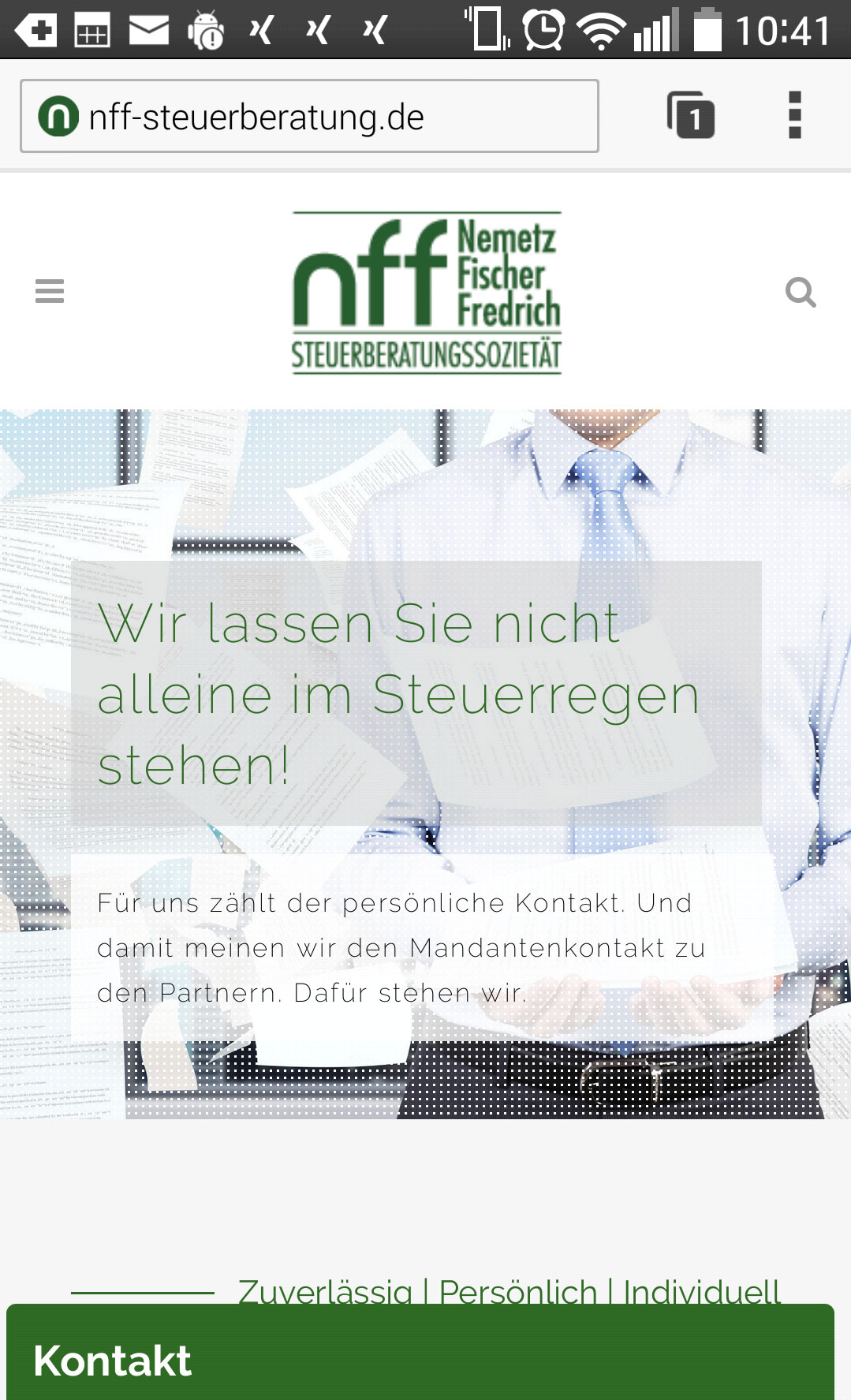 Website-Relaunch mobile Ansicht