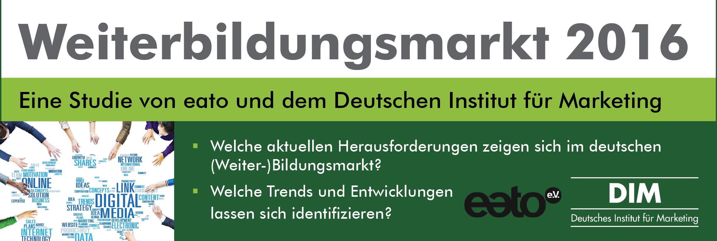 Studie Weiterbildungsmarkt 2016
