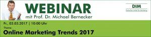 Webinar Online Marketing Trends 2017