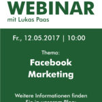 "Live-Webinar zum Thema ""Facebook Marketing"" am 12. Mai 2017"