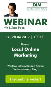 Webinar Local Online Marketing am 28.04.2017 um 10 Uhr