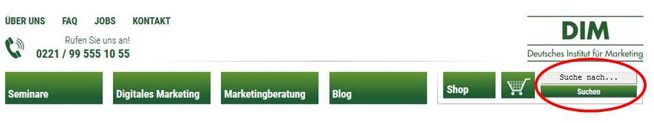 Internetseite erstellen: Suchfunktion