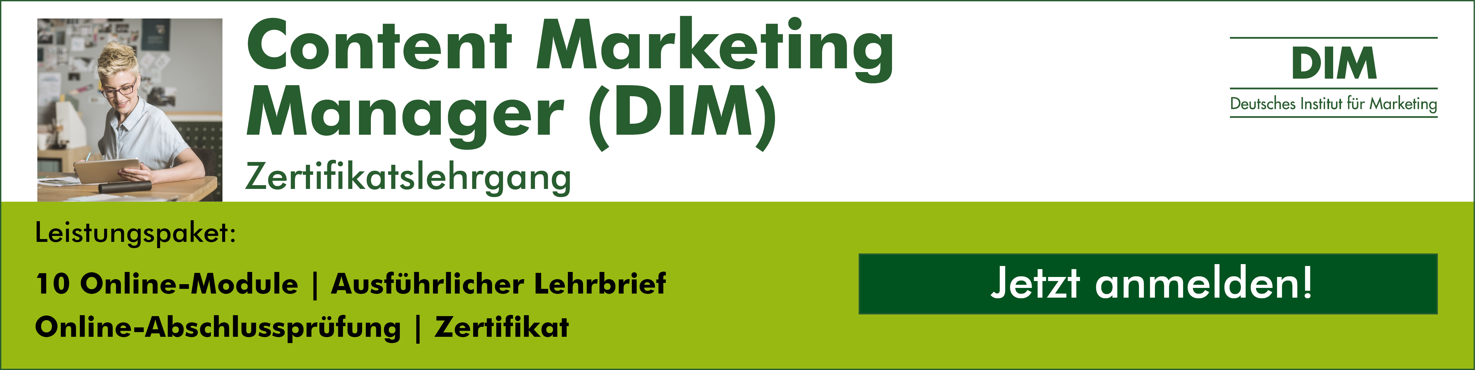 Zertifikatslehrgang Content Marketing Manager (DIM)