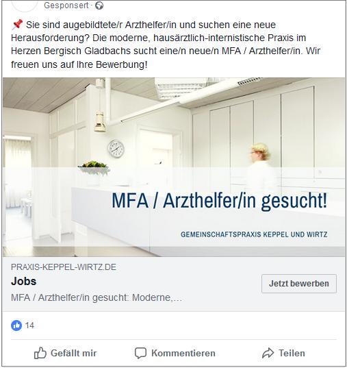 Facebook Stellenausschreibung Keppel