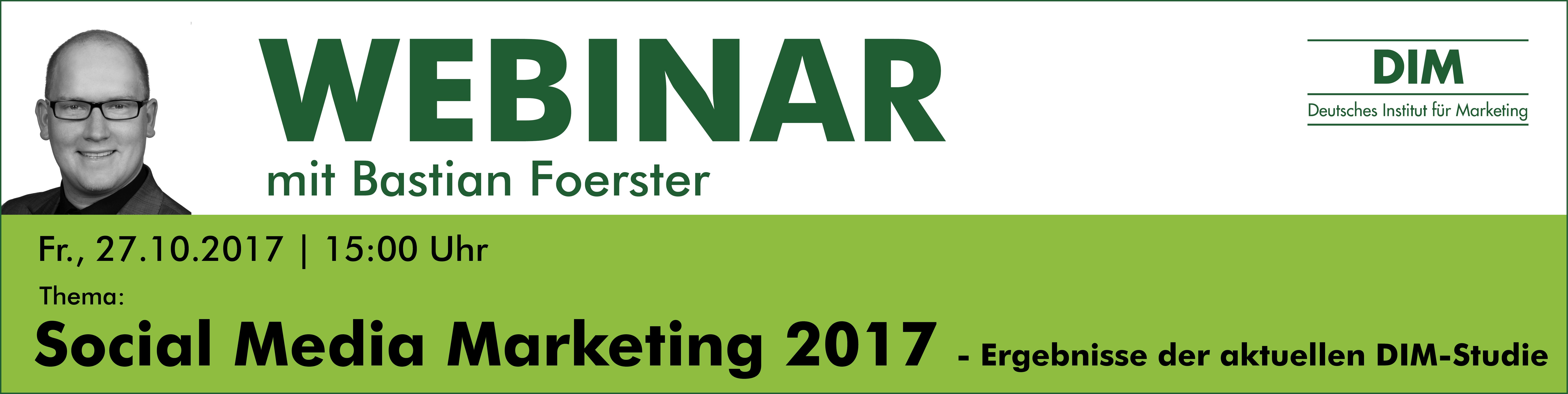 Webinar Social Media Marketing Studie 2017