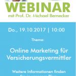 """Live-Webinar """"Online Marketing für Versicherungsvermittler"""""""