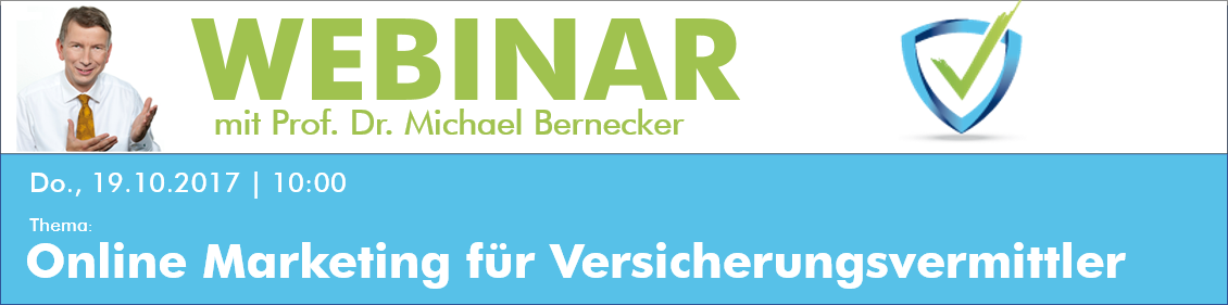 Webinar Online Marketing Versicherungsvermittler