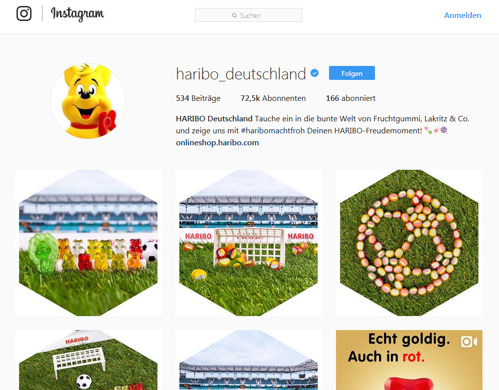 Haribo Instagram Marketing