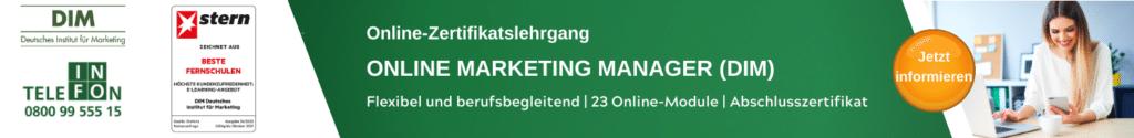 Online Marketing Manager DIM