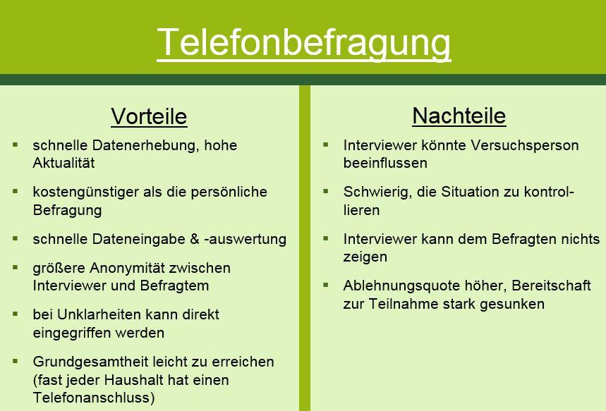 Telefonbefragung