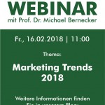 "Live-Webinar zum Thema ""Marketing Trends 2018"""