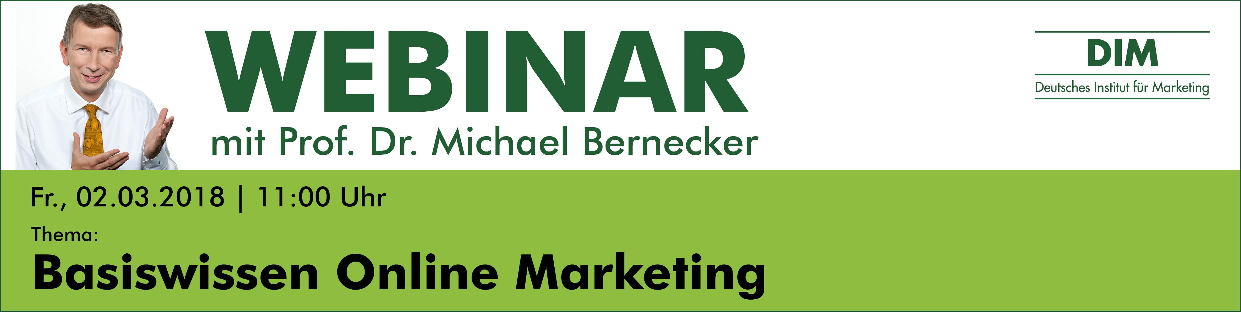 Live-Webinar Basiswissen Online Marketing
