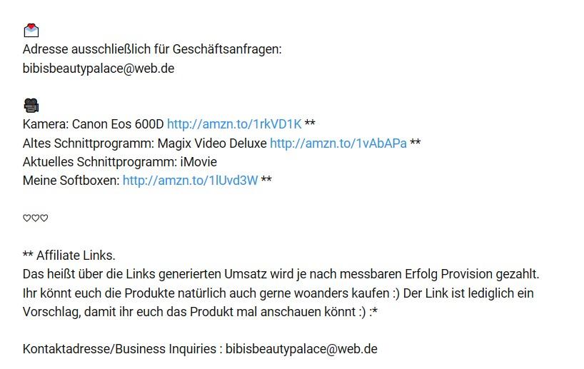 Affiliate Marketing YouTube Links