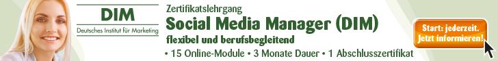 Zertifikatslehrgang Social Media Manager (DIM)