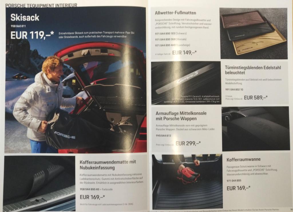 Porsche Zubehörinformation