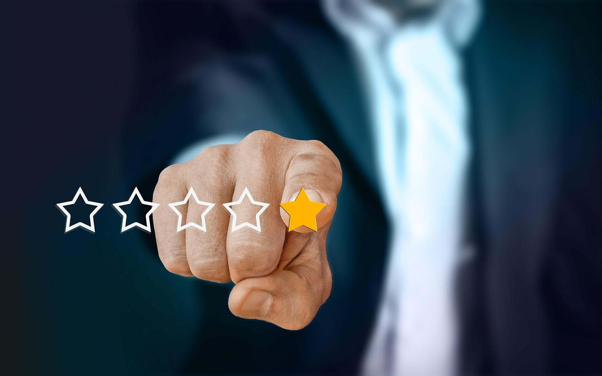Sterne-Bewertungen - Wie wirken sie auf Kunden?