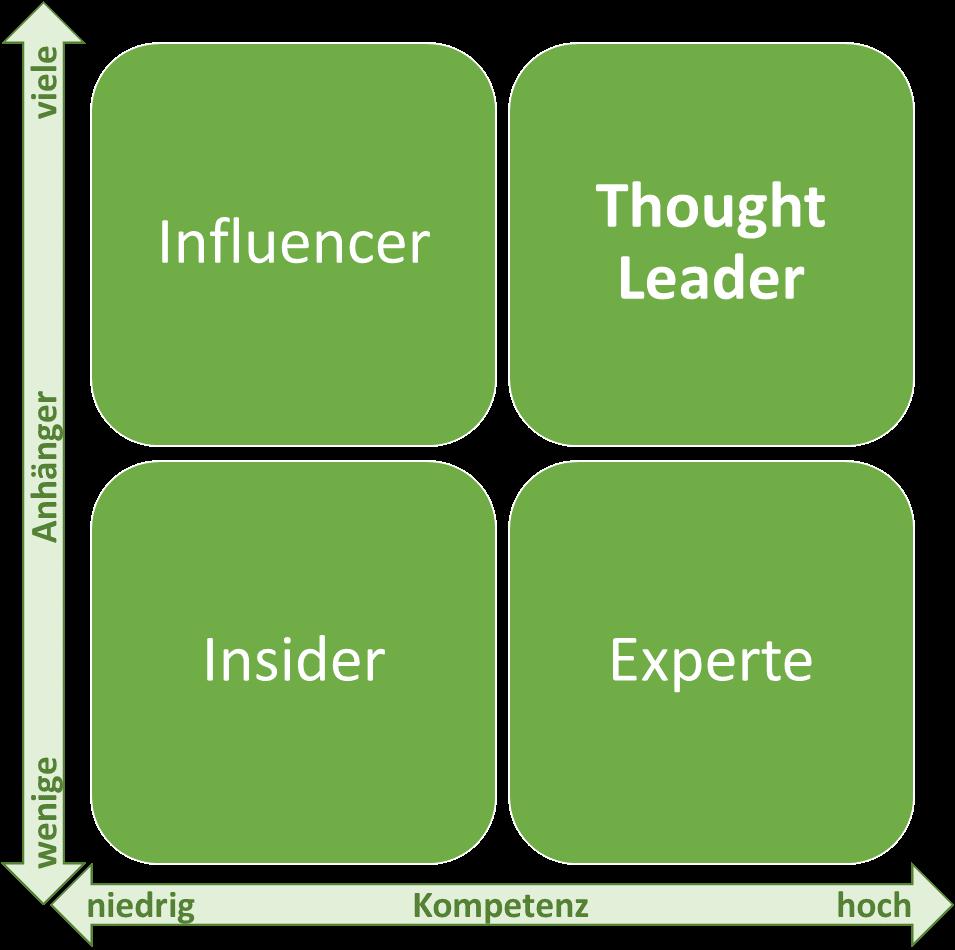 Schemata zur Abgrenzung eines Thought Leaders