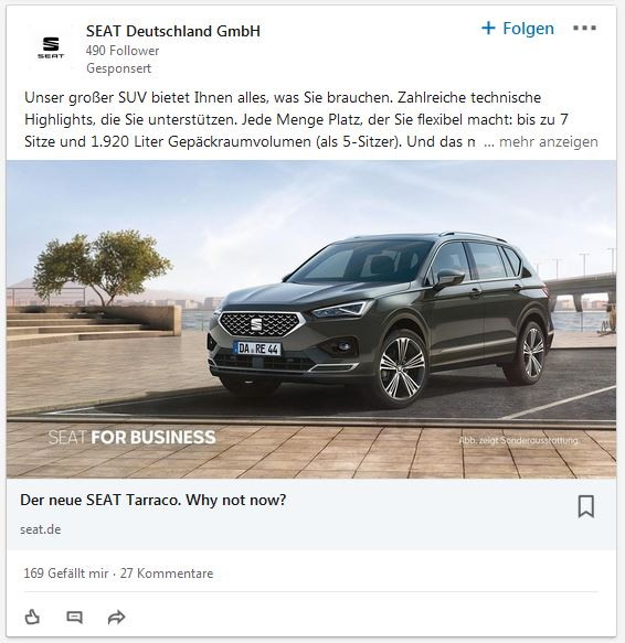 LinkedIn Marketing Sponsored Content