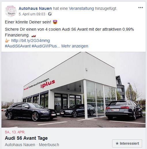 Social Media bei Firmenevents Autohaus Nauen