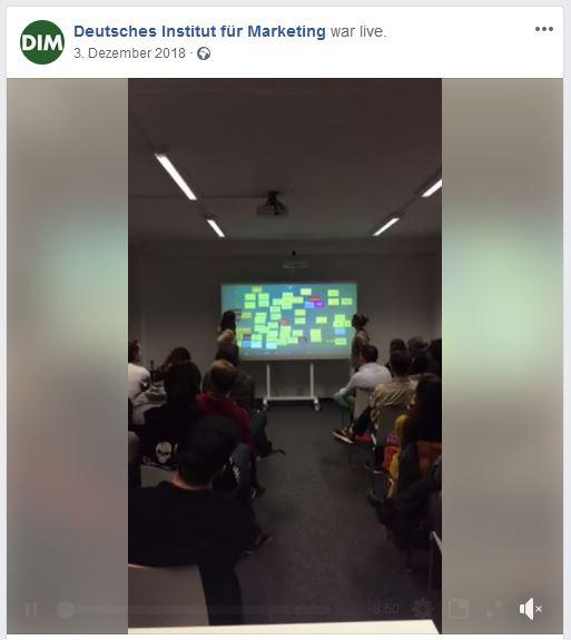 Social Media live bei Firmenevents