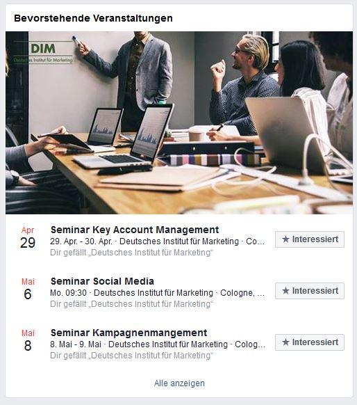 Social Media für Firmenevents: Facebook-Veranstaltungen
