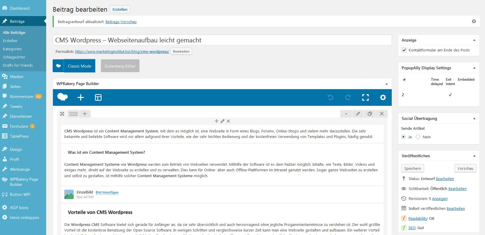 CMS Wordpress Blog