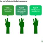 Marketingprozesse effektiv und effizient gestalten! 5 Tipps für den Management-Alltag