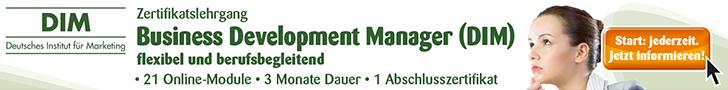 Zertifikatslehrgang Business Development Manager (DIM)