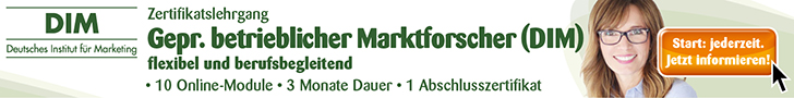 Zertifikatslehrgang Gepr. betrieblicher Marktforscher (DIM)