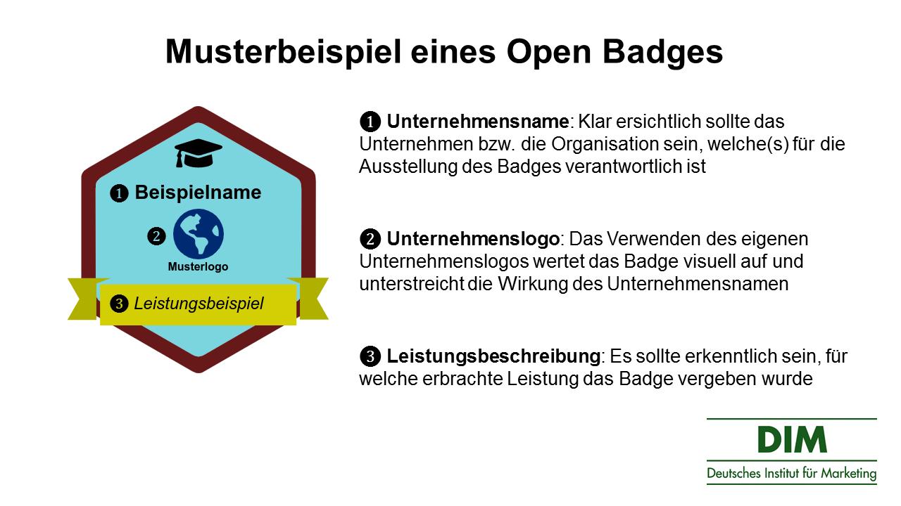 Open Badges Musterbeispiel Grafik