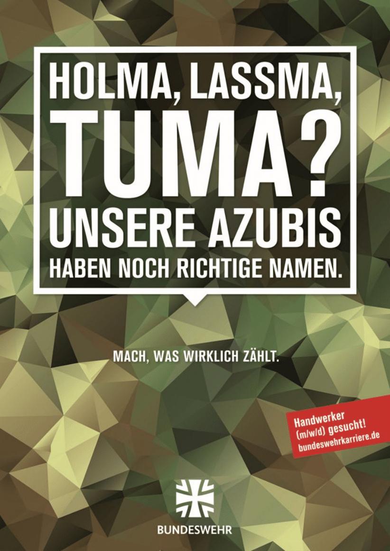 Werbeanzeige Bundeswehr