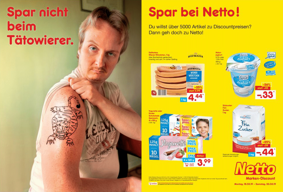 Werbeanzeige Netto