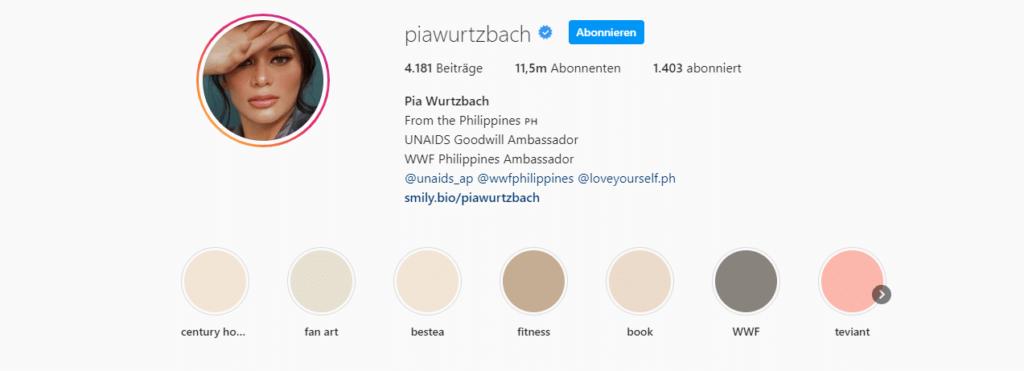 Pia Wurtzbach Instagram