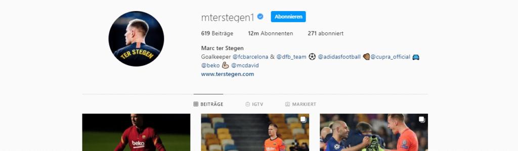 Marc-André ter Stegen Instagram