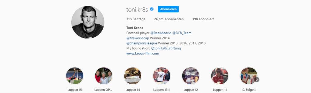 Toni Kroos Instagram